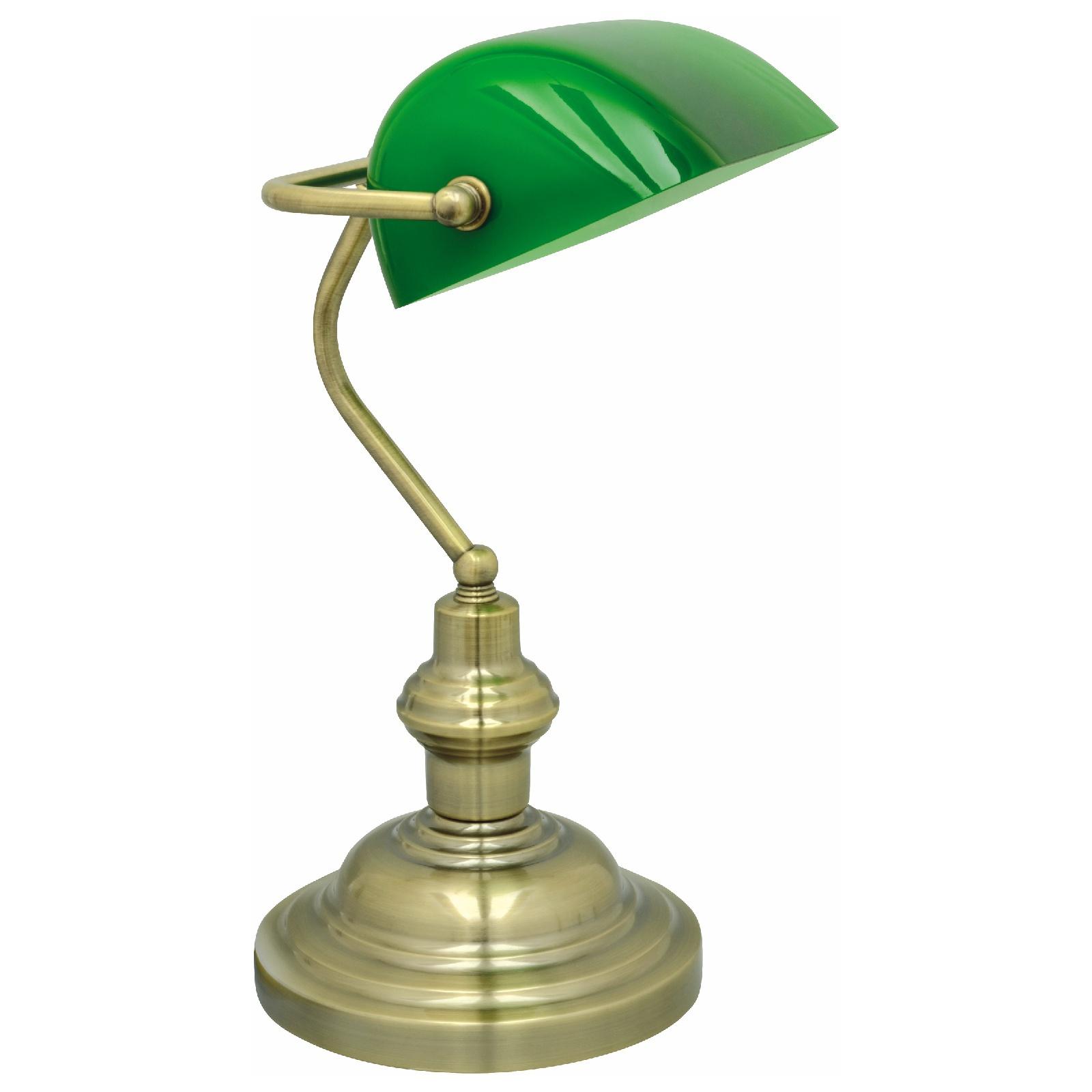 Pöytävalaisin Bankir 188x216x395 mm antiikkimessinki vihreä  Taloon com
