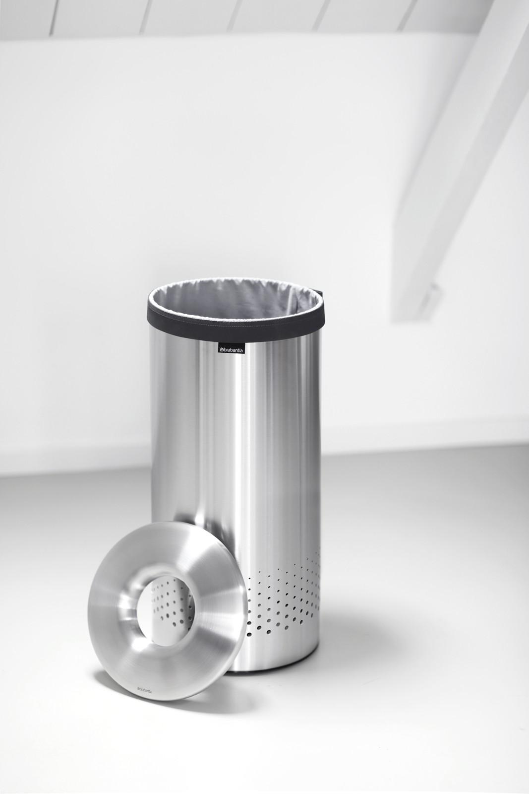 Pyykkikori Brabantia 35 L Quick Drop Matt Steel  Taloon com
