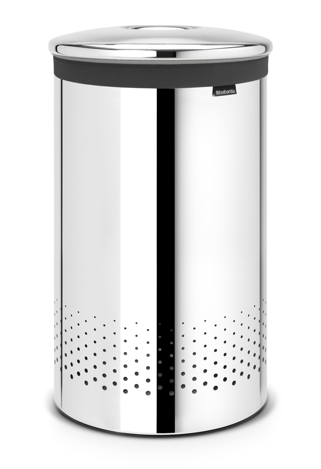 Pyykkikori Brabantia 60 L Quick-Drop Brilliant Steel