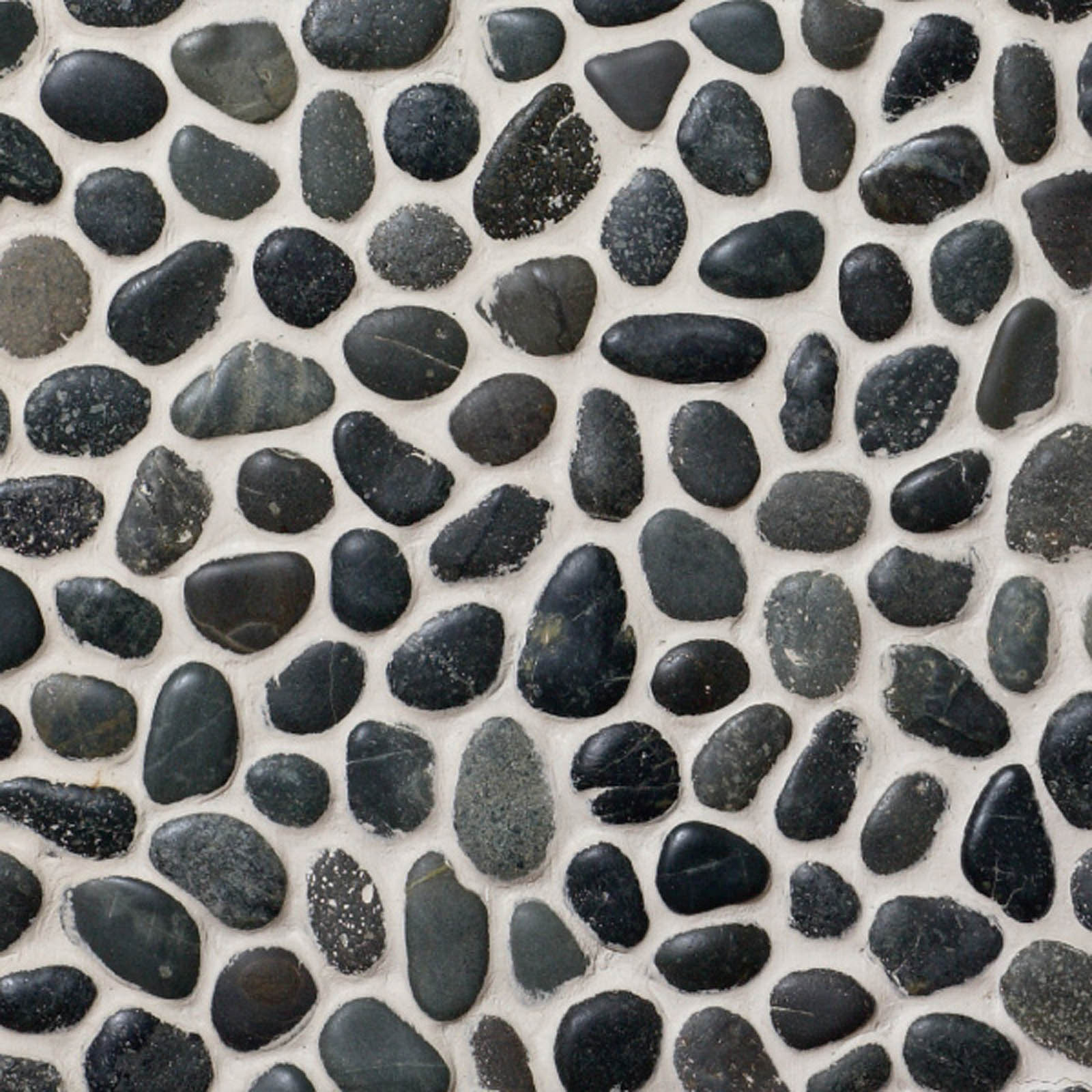 Qualitystone Pebble Swarthy Black Small Interlock verkolla 300x300 mm