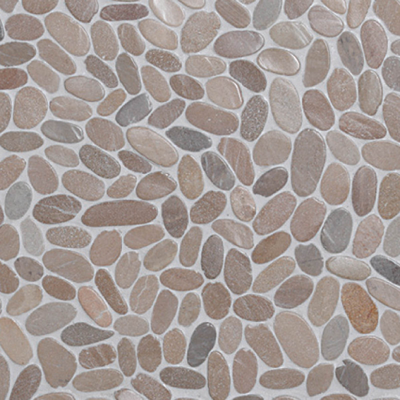 Qualitystone Sliced Pebble Asian Tan Interlock verkolla 300x300 mm
