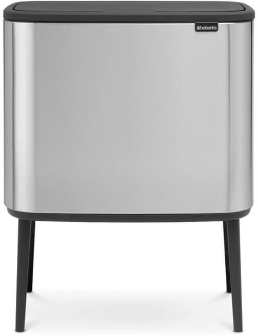 Roska-astia Brabantia Bo Touch 11+23 L Matt Steel Fingerprint Proof
