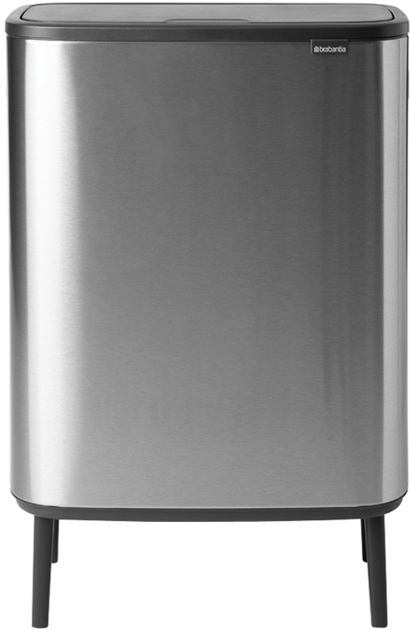 Roska-astia Brabantia Bo Touch Hi, 2 x 30L, Matt Steel Fingerprint Proof