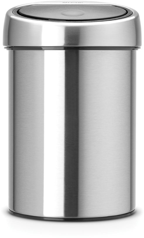 Roska-astia Brabantia Touch Bin, 3L, Matt Steel Fingerprint Proof