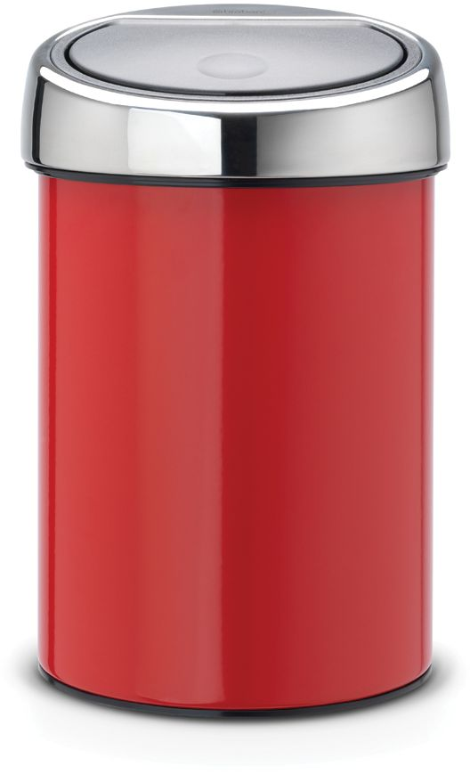 Roska-astia Brabantia Touch Bin, 3L, Passion Red