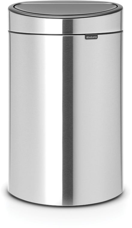 Roska-astia Brabantia Touch Bin, 40L, Matt Steel Fingerprint Proof
