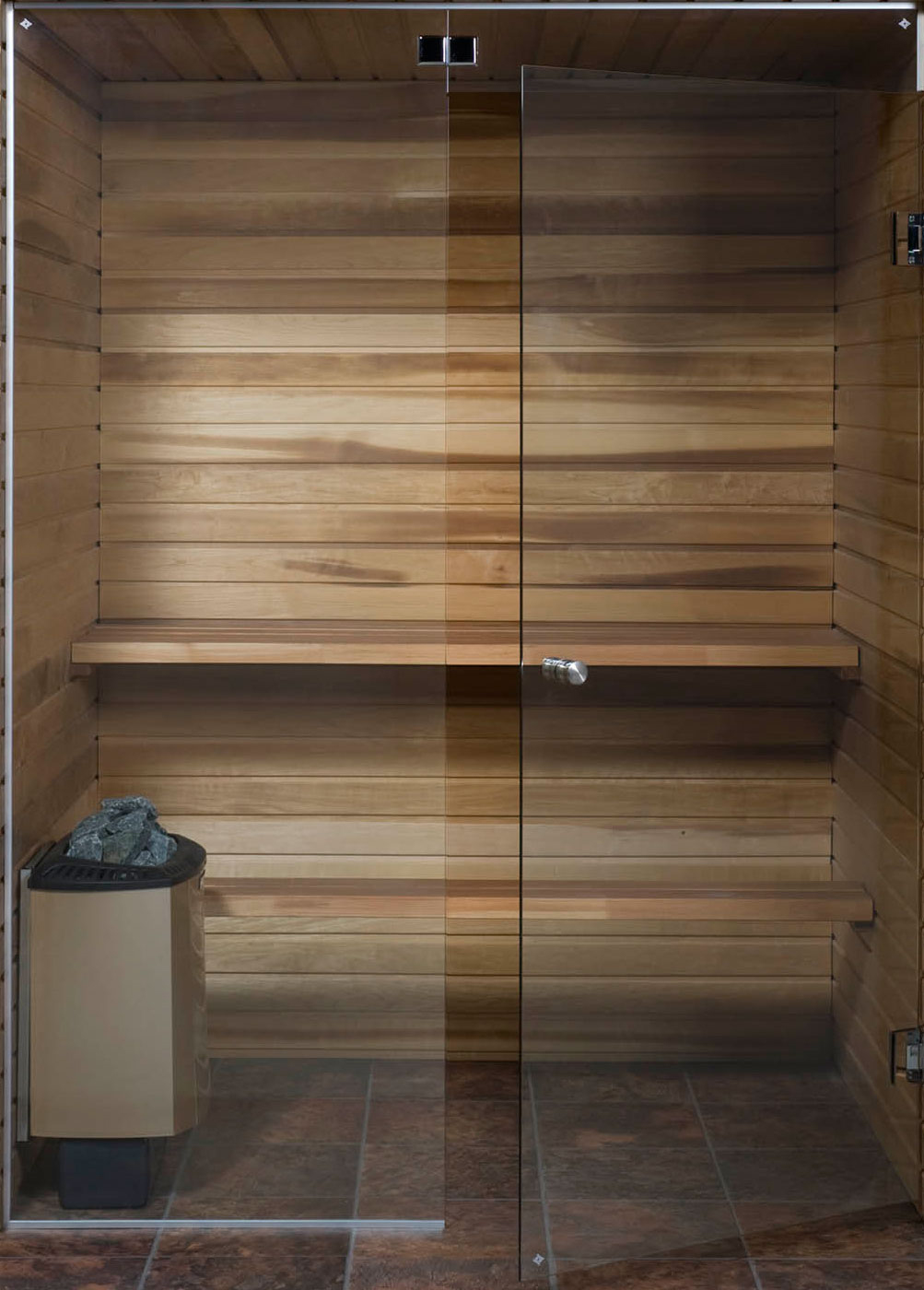 Glass house sauna