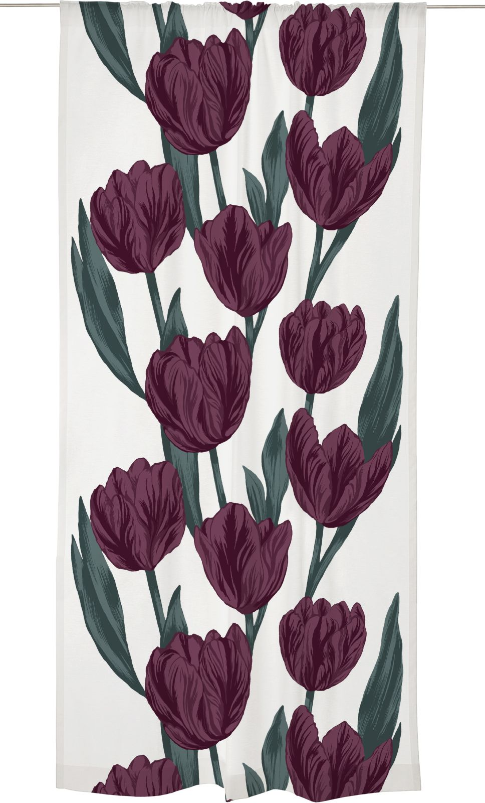 Sivuverho Vallila Estelle Fancy, 140x250cm, plum