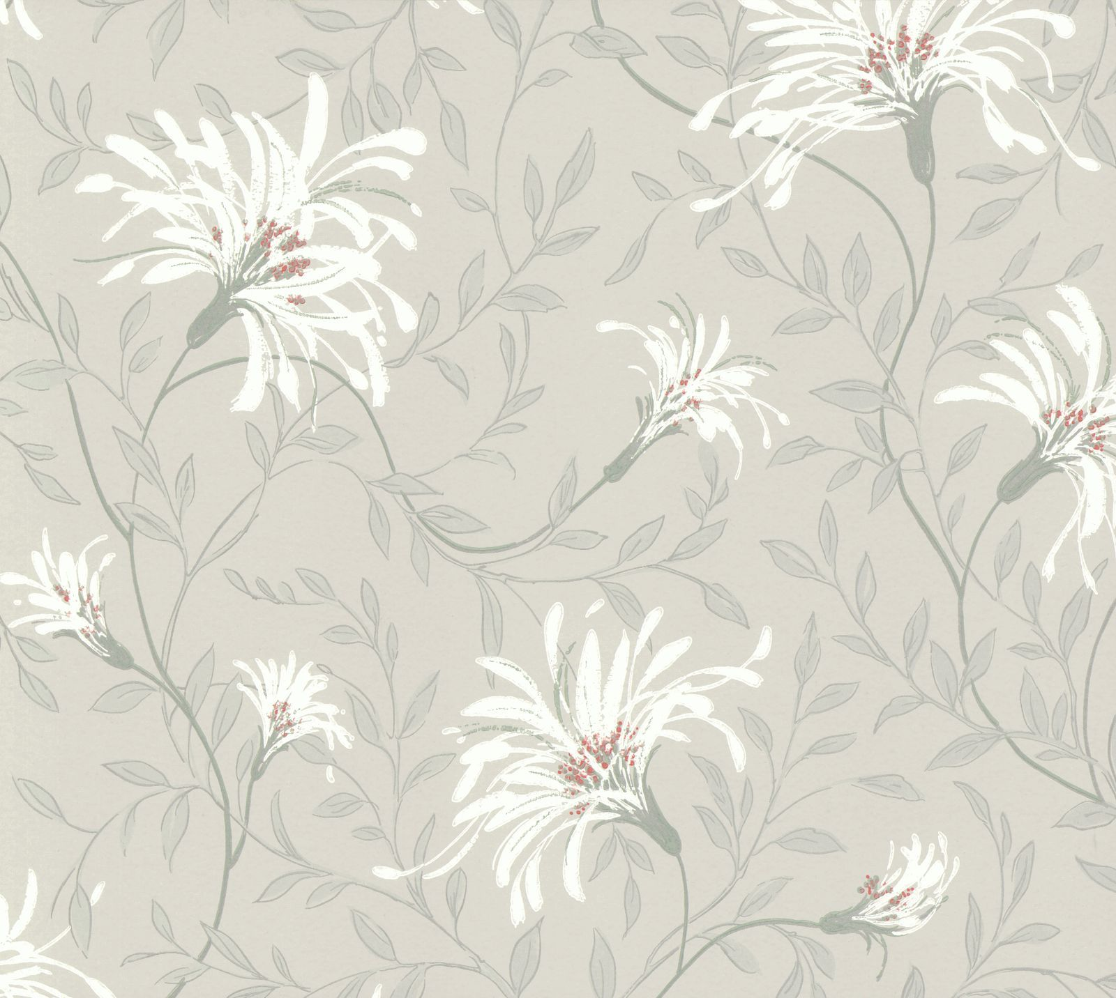 Tapetti 1838 Wallcoverings Fairhaven harmaa/punainen 0,52x10,05 m