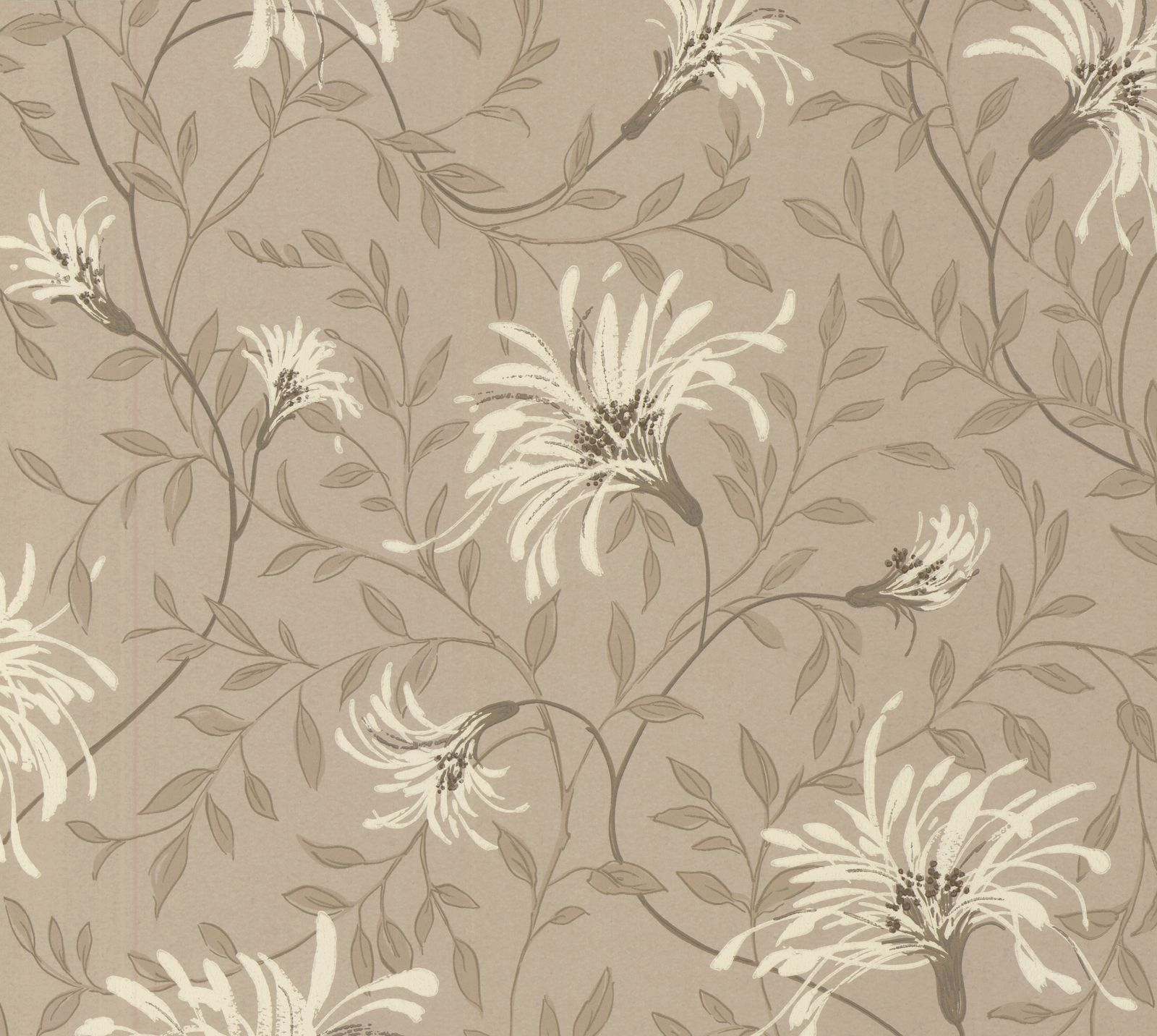 Tapetti 1838 Wallcoverings Fairhaven ruskea 0,52x10,05 m