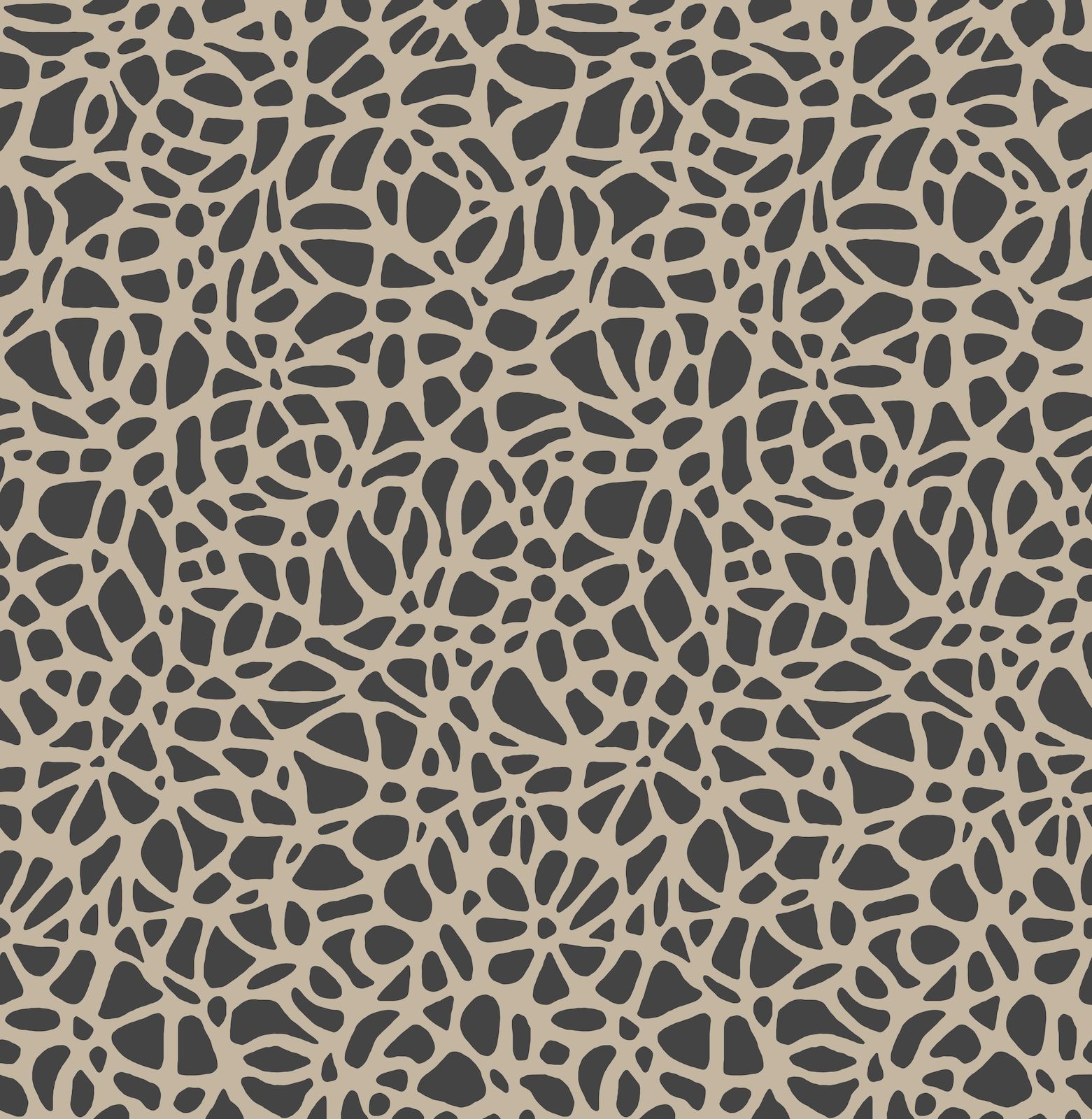 Tapetti 1838 Wallcoverings Pebble flock ruskea 0,52x10,05 m