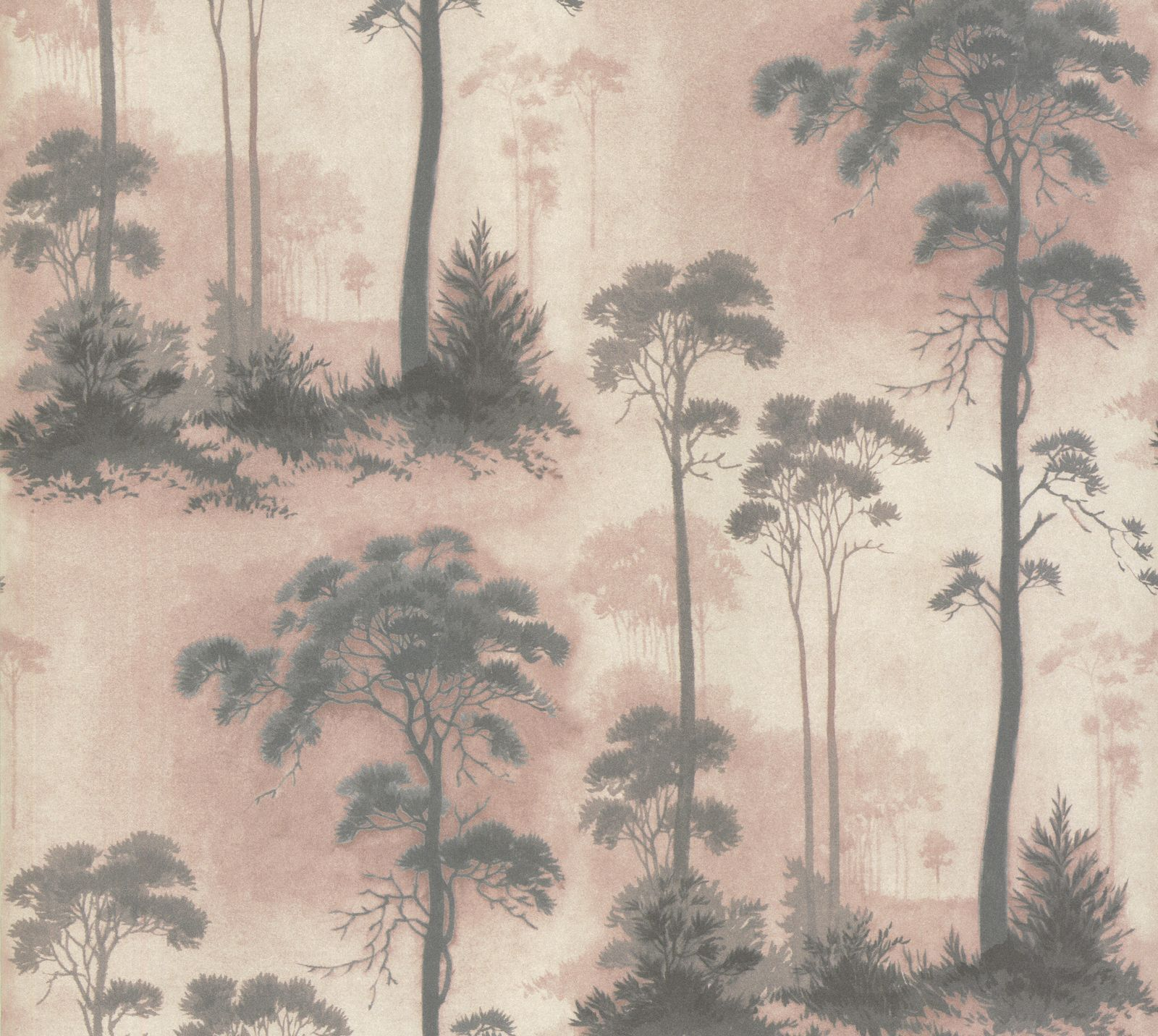 Tapetti 1838 Wallcoverings Prior Park vaaleanpunainen 0,52x10,05 m