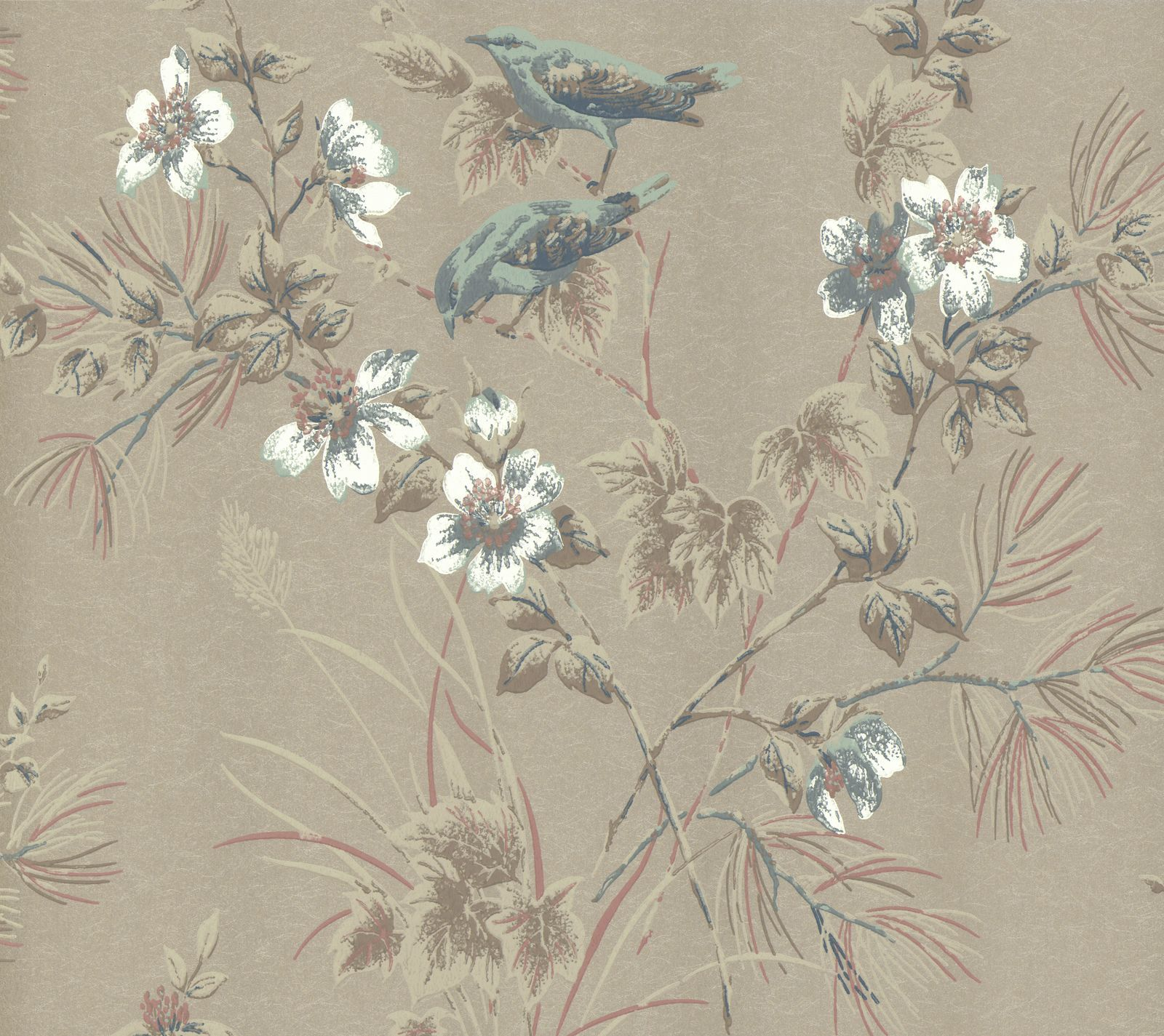 Tapetti 1838 Wallcoverings Rosemore ruskea 0,52x10,05 m