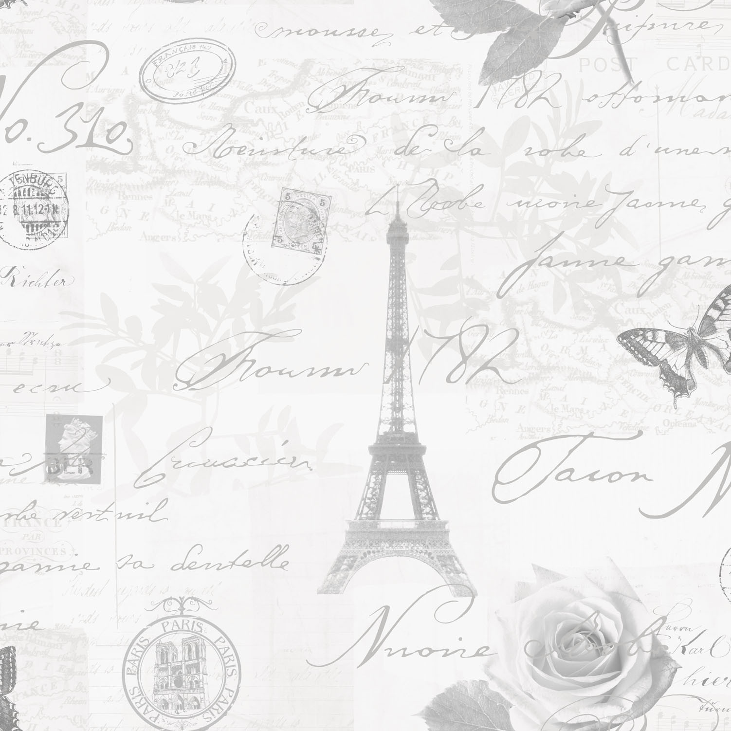 Tapetti Calligraphy 97752 0,53×10,05 m harmaa non woven