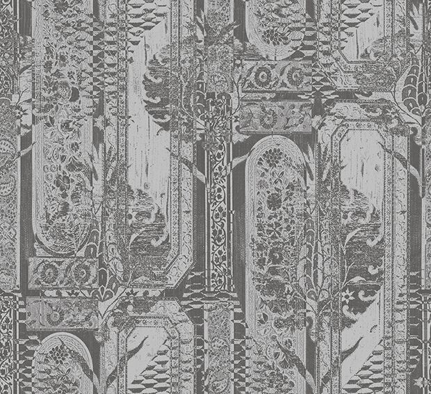 Tapetti HookedOnWalls Eclectic hopea 0,70x10,05 m