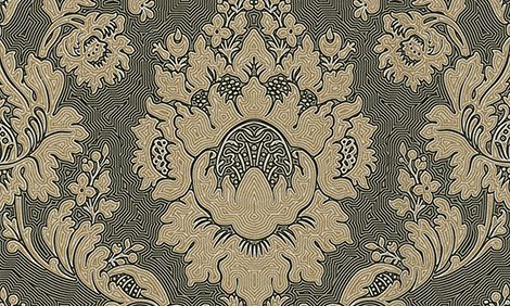 Tapetti HookedOnWalls Twisted Damask musta 0,53x10,05 m