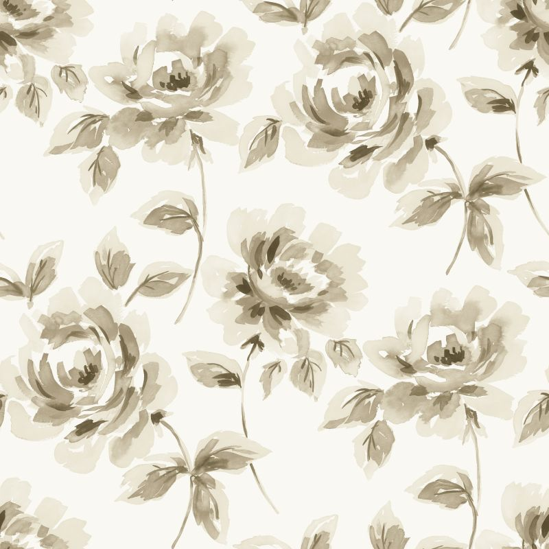 Tapetti Watercolor Painting Roses 128012 0,53x10,05 m beige/ruskea non-woven