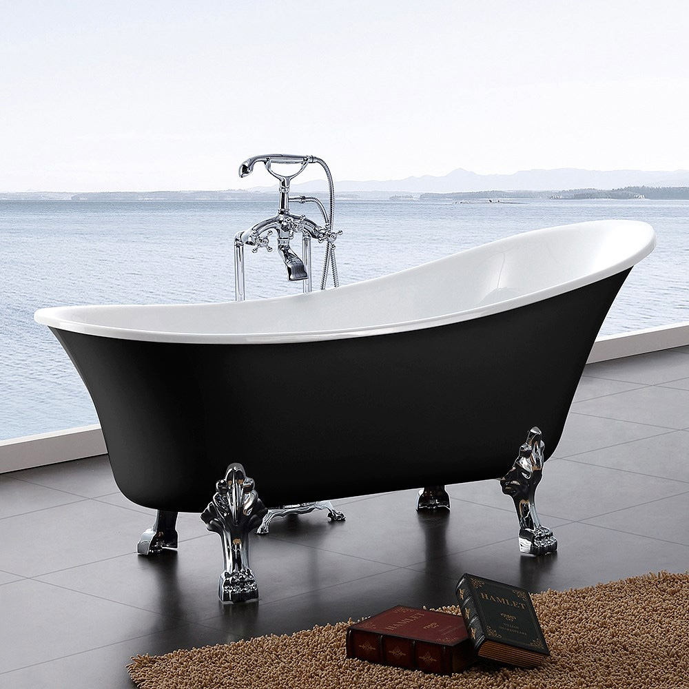 Tassuamme Bathlife Fossing 1620 1620x710mm 180l musta