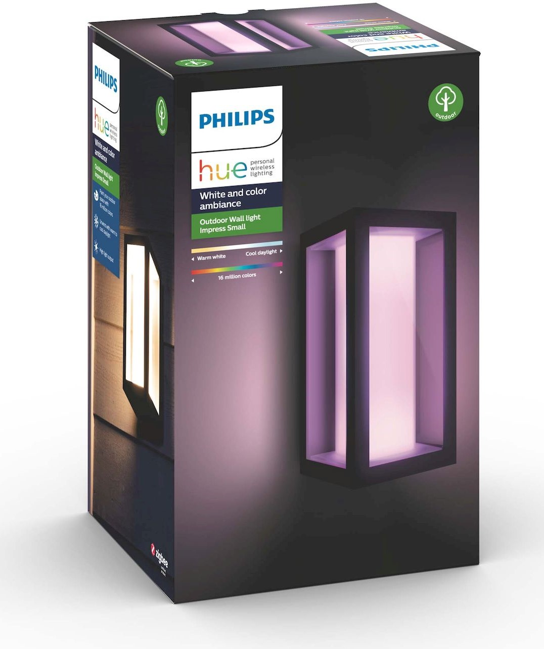 Ulkoseinävalaisin Philips Hue Impress WACA EU LED kapea 8W IP44 240x141x120 mm musta