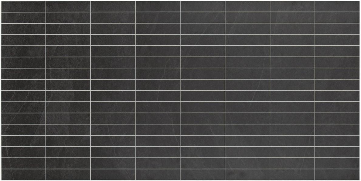 Välitilan laminaatti Liuskekivi Musta 0462 kuvio 3,75×15 cm levy 3x600x1200 m