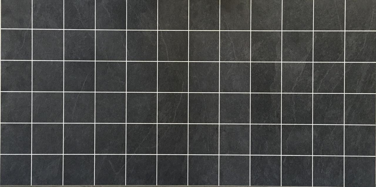 Välitilan laminaatti Liuskekivi Musta 0463 kuvio 10×10 cm