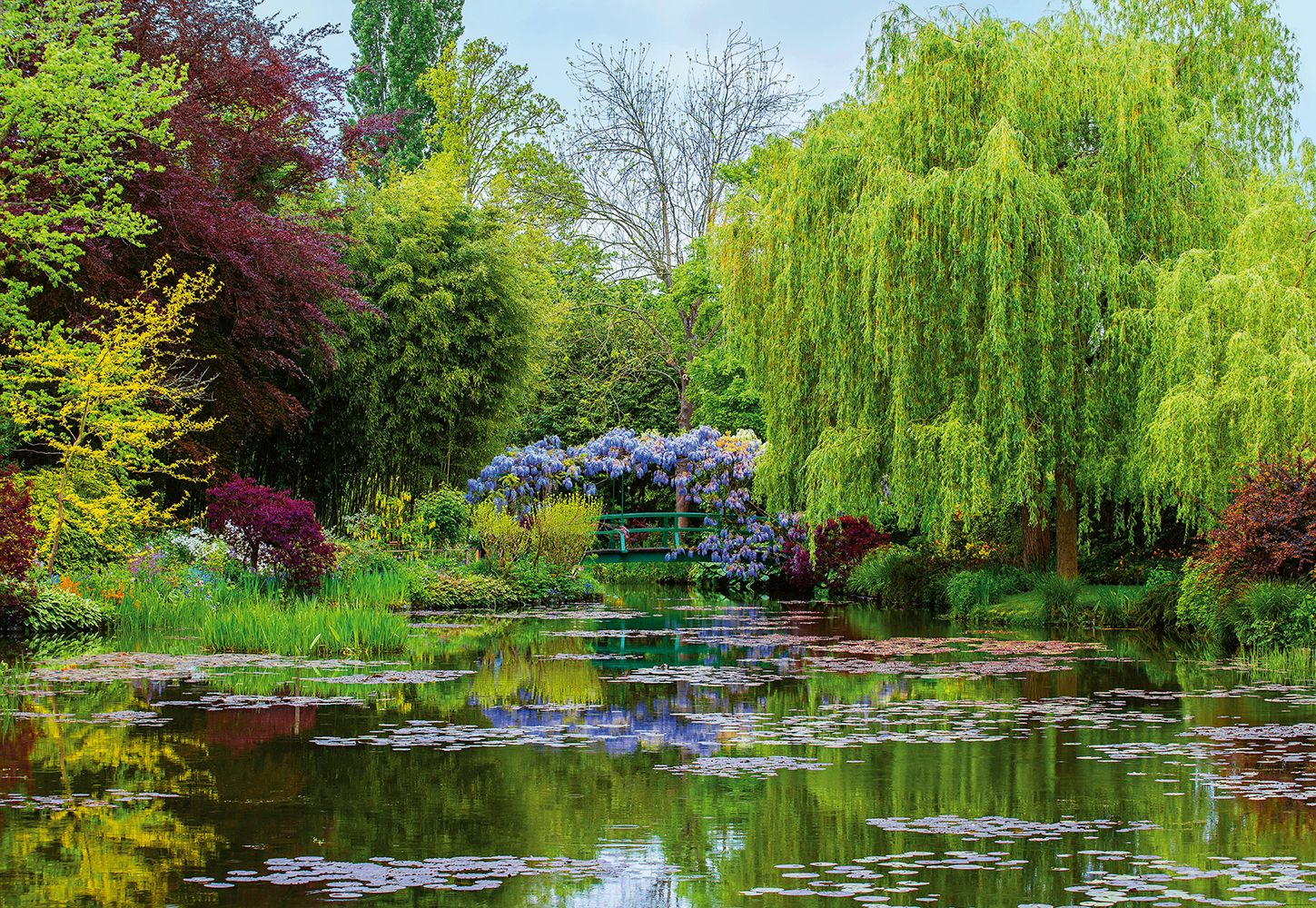 Valokuvatapetti Idealdecor Digital Monet's Garden In France 4-osaa 5035-4V-1 254x368 cm