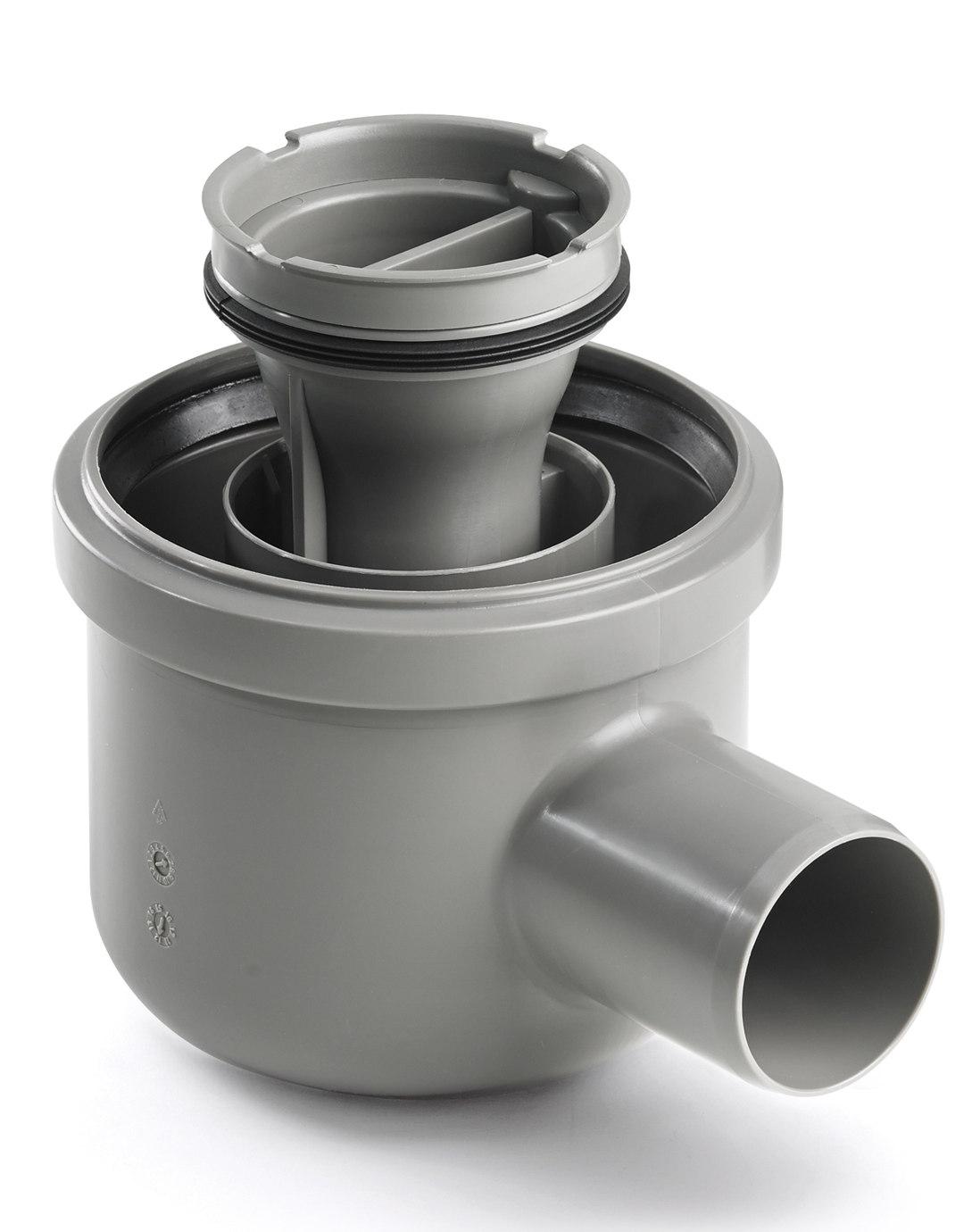Viemärikaivo kulma 2411 vaaka 50 mm vesilukolla Unidrain  Taloon com