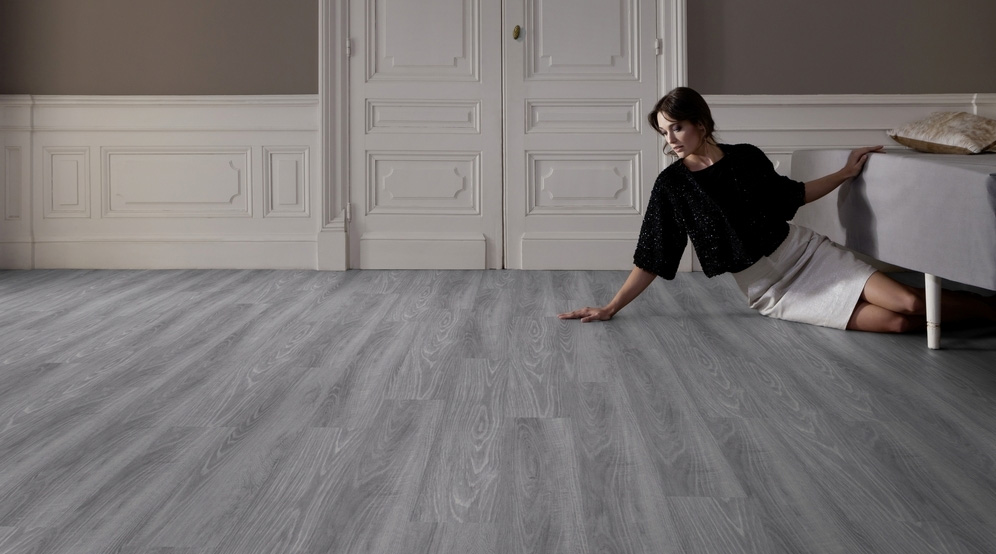 Vinyylilankku Gerflor Virtuo 55 Clic, Club Grey 0288