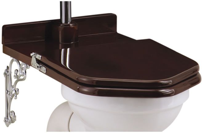 WC-istuimen kansi Burlington Throne, Mahogany