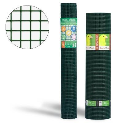 Yleisverkko muovipinnoitettu 500 mm x 25 m rulla silmä/lanka 19x19/1,0/1,4 mm vihreä