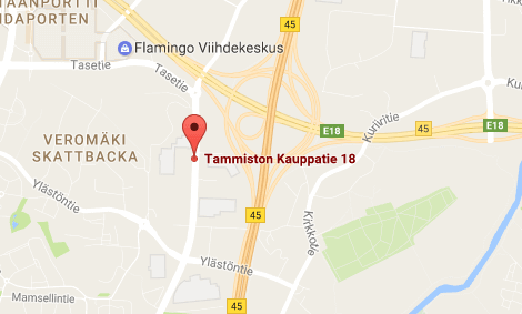 Tammiston Palvelumyymälän kartta