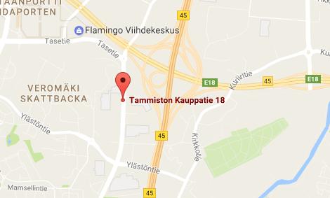 Tammiston Palvelumyymälän kartta